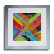 """tableau abstrait tableau moderne colore carre : Tableau """" COLORFUL SQUARE  """", toile design violet, mau"""