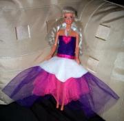 autres personnages robe barbie poupee rose : Robe de soirée princesse poupée barbie rose blanc
