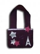 art textile mode villes sac paris star violet : Sac à main étoile i love paris tour eiffel liberty prune rose ba