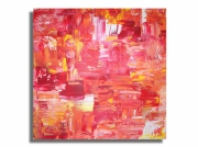 tableau abstrait rouge orange jaune tableau : Tableau toile rouge orange jaune blanc moderne abstrait