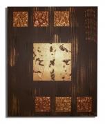tableau abstrait toile marron moderne abtrait : tableau marron doré or moderne contemporain abstrait de chiarade