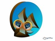 tableau animaux abstrait numerique symbole original : DESSIN BLUREVOSIBO PRAHT0004