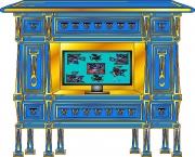 deco design abstrait meuble tv creation original meuble : MEUBLE QUIADISAISIBO MAH3661