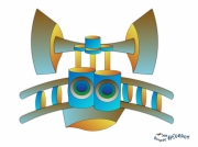 dessin animaux abstrait numerique symbole original : DESSIN ECHELRASIBO PRAHT0002