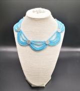 bijoux autres collier bleu femme cadeau : Collier ABAR