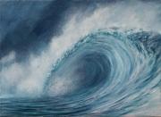 tableau marine tableau mer peinture marine vague deferlante paysage marin : Déferlante