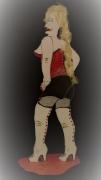sculpture personnages sculpture sensualite humour : babounette cuissarde