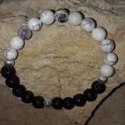 bijoux autres bracelet howlite pierre lave : Bracelet Howlite