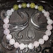 bijoux autres bracelet jade quartz rose : Bracelet Quartz rose et Jade