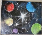 tableau paysages planetes espace : Planètes