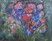 tableau fleurs : Bouquet de roses