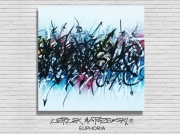 tableau abstrait tableau abstrait gra tableau street art ,c lartiste peintre pla abtraction calligraf : EUPHORIA (VENDU)