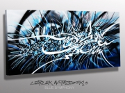 tableau abstrait art abstrait moderne artistepeintreplasti expressionnisme abst mosellelorraine gr : BLUE SYMPHONY n° 3