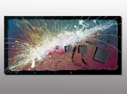 tableau abstrait tableau abstrait mod artiste peintre plas action painting gale nouveau talent peint : APOPHIS ( Vendu )