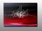 tableau abstrait tableau art contempo action painting pein artiste peintre plas : NUIT DE FEU (non disponible)