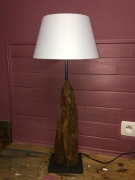 bois marqueterie lampe poser bois racine : Lampe