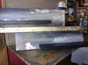 deco design abstrait etagere murale bois gris : Etagère
