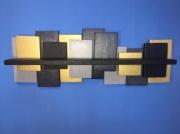 deco design abstrait etagere abstrait or murale : Etagère