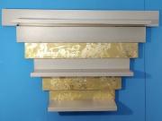 deco design abstrait etagere murale beige or : Etagère
