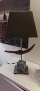tableau lampe poser bois racine : Lampe
