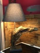 deco design lampe poser bois racine : Lampe