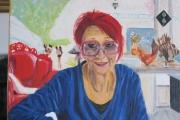 tableau personnages artiste au travail : portrait
