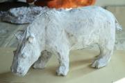 sculpture animaux hippo ruminant : hippopotame