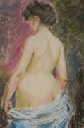 tableau personnages 1890 entree de bain : Déshabillé de bain