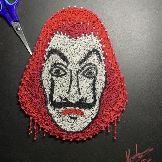ART TEXTILE, MODE Dali Casa de papel Masque Série Personnages  - Masque de Dali