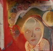 tableau personnages intuition lumiere femme un long periple tran : sortie du désert