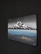"""tableau paysages tableau moderne acrylique pluie detoiles isabelle rolland : """" Pluie d'étoiles """""""
