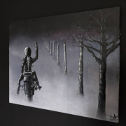 """tableau autres liberte peinture moderne noir et blanc : """" Rêve de liberté """""""