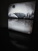 """tableau autres tableau dyptique noir et blanc moderne : """" Nouveau monde """""""