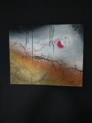 """tableau abstrait peinture semiabstraite peinture abstraite peinture moderne peinture acrylique : """" Mystérieuse Fissure """""""