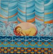 tableau personnages naissance bebe douceur enfant : Naissance