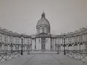 dessin architecture paris academie francaise immortels : Le Pont des arts et l'académie française