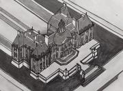 dessin architecture : Le château de Vaux le Vicomte