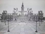 dessin architecture paris mairie : L'hôtel de ville de Paris