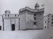 dessin architecture : Le Castillet de Perpignan