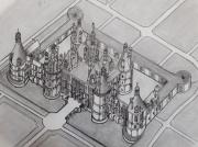 dessin architecture : Le château de Chambord