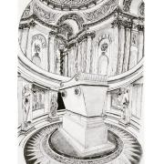 dessin architecture napoleon louis xiv tombeau dÔme : Le tombeau de Napoléon Ier a l'hôtel des Invalides.