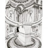 Le tombeau de Napoléon Ier a l'hôtel des Invalides.
