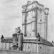 dessin architecture : Le Château de Vincennes