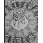 dessin architecture paris arc de triomphe charles de gaulle etoile : Vue aérienne de la Place Charles de Gaulle étoile et de l'a