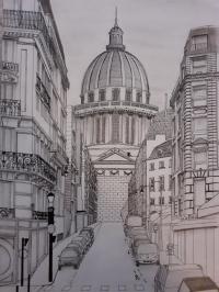 Le Panthéon et la rue des carmes