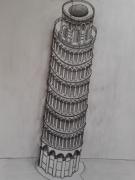 dessin architecture pise italie tour : La Tour de Pise
