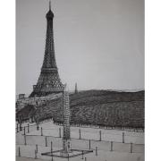 dessin architecture concorde eiffel paris : Vue aérienne de la place de la Concorde et de la Tour Eiffel