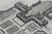 dessin architecture chÂteau versailles louis xiv louis xiii : Le château de Versailles