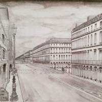 Vue de la rue de Rivoli, au niveau de Palais-Royal musée du Louv