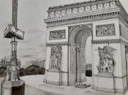 dessin architecture paris arc de triomphe charles de gaulle napoleon : L'arc de triomphe de l'étoile